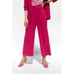 Zara culottes wide leg pants in fuscia